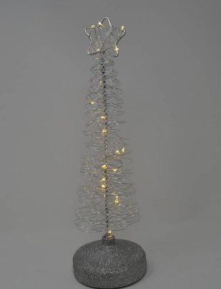 LED Silver Spiral Tree