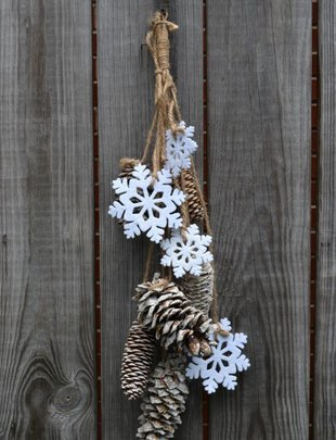 Glitter Pinecone & Snowflake Cluster Drop