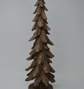 "19"" Rustic Brown Tree on Base"