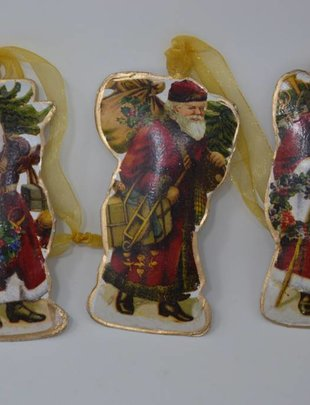 Small Metal Santa Ornament (3 Styles)