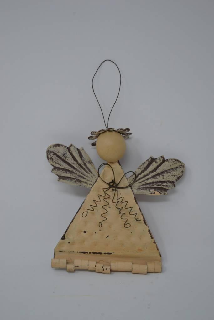 Rustic Metal Angel Ornament (4 Styles)