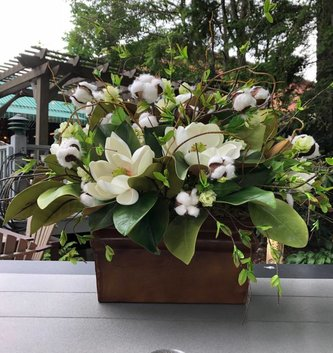 Custom Cotton Magnolia Arrangement