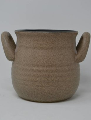"5.5"" Taupe Handled Container"