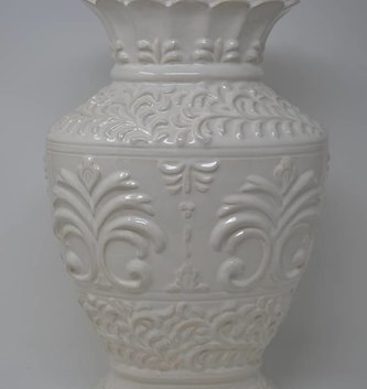Tall Elegant Cream Vase
