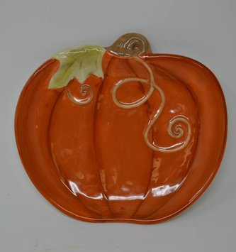 Orange Pumpkin Plate