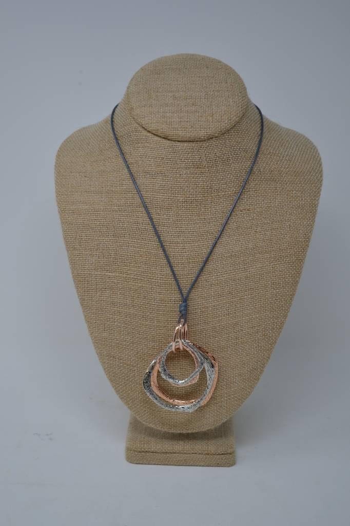 Multi-Loop Mixed Netal Necklace (2 Styles)