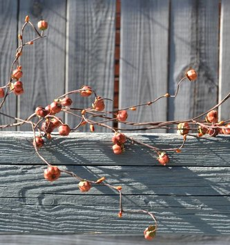 6' Wispy Twig Mini Pumpkin Garland
