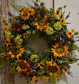 Custom Indian Summer Wreath