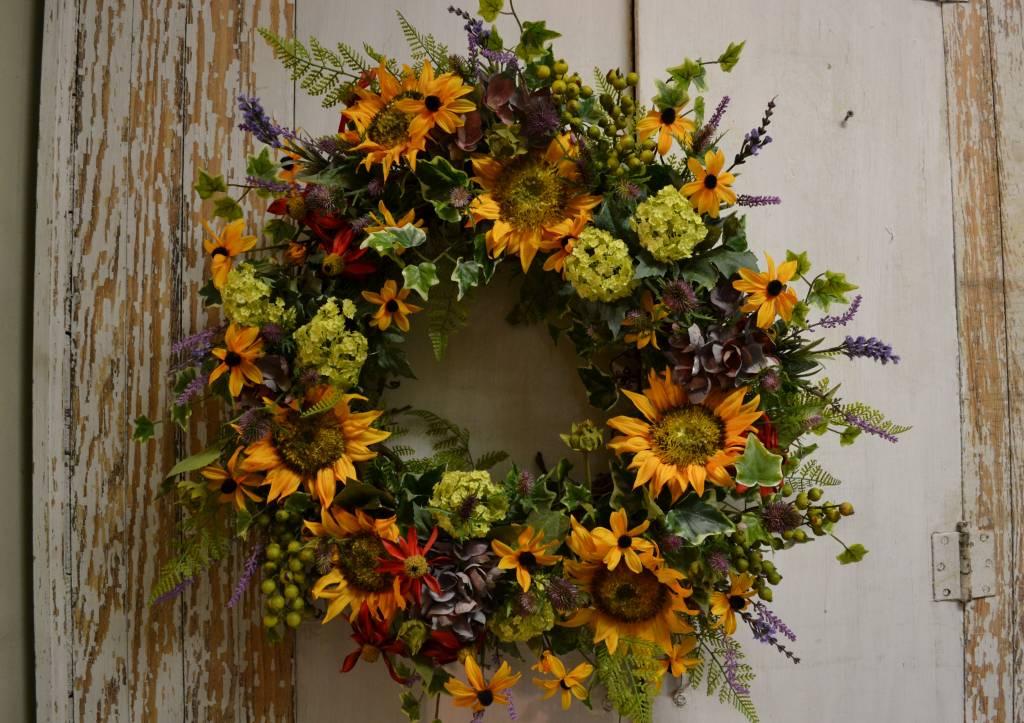 Custom Indian Summer Wreath The Last Straw