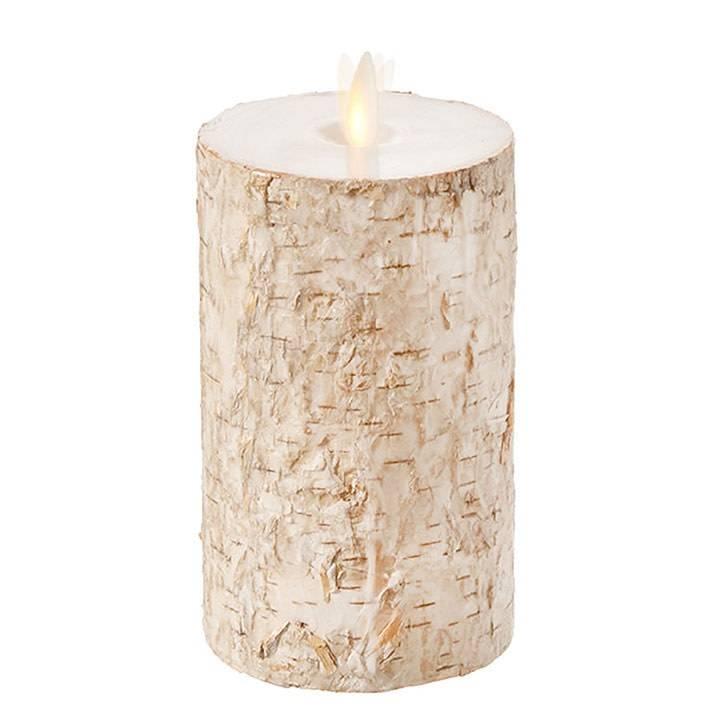 Liown Birch Battery Pillar Candle (3 Sizes)