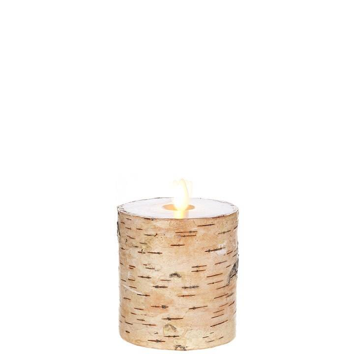 Liown Birch Battery Pillar Candle (3 Sizes)