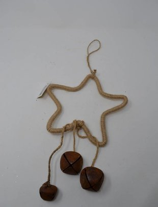 "20"" Jute Star Ornament"
