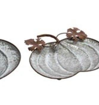 Galvanized Pumpkin Tray (3 Sizes)