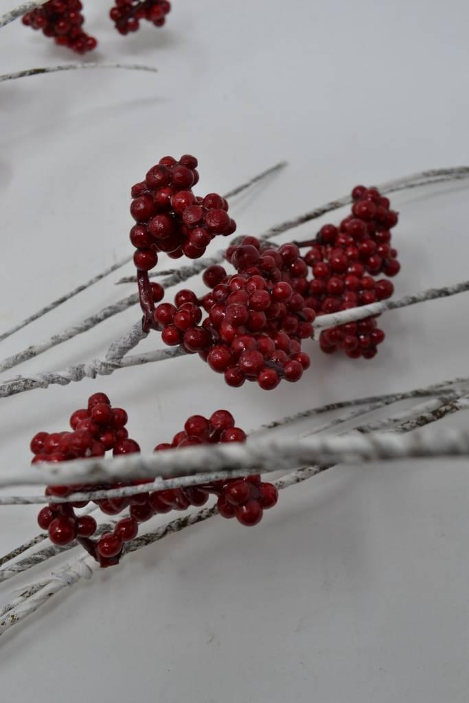 """39"""" Wispy Red Berry Birch Spray"""