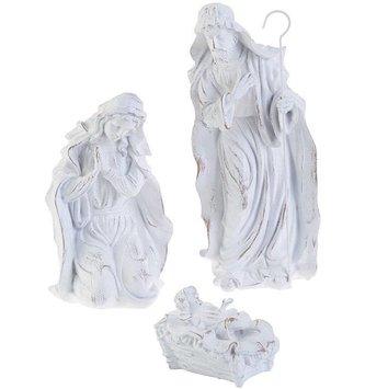 3 Piece White Holy Family