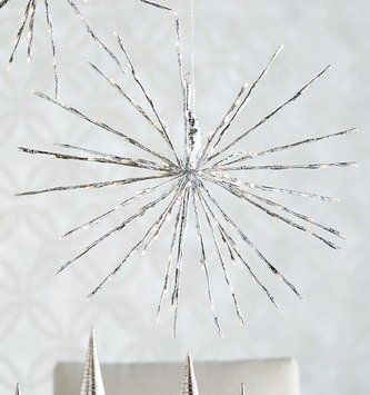 LED Silver Starburst w/ Remote (2 Sizes)