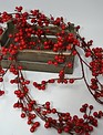 6-ft Red Berry Twig Garland