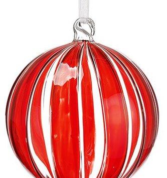 Peppermint Stripe Glass Ornament (2 Sizes)