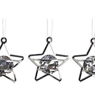 Set of 3 Mini Prism Star Ornaments