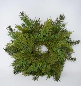 Soft Touch Cedar Pine Wreath