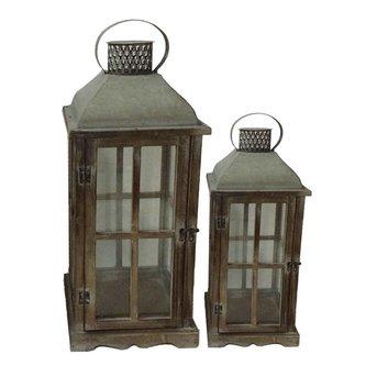 Antique Tin Roof Lantern (2 Sizes)