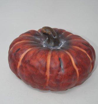 Burgundy Wide Terracotta Pumpkin