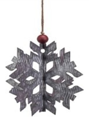 3D Galvanized Snowflake (2 Sizes)