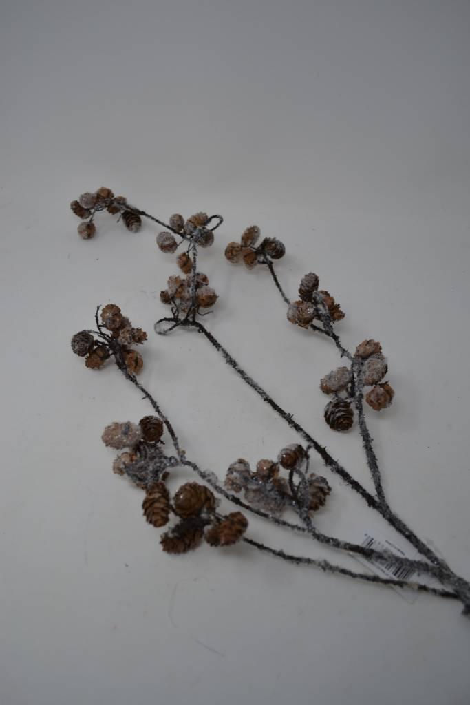 """34"""" Winter Mini Pinecone Branch"""