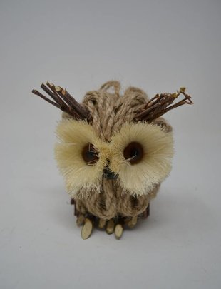 "5"" Jute Twig Owl Ornament"