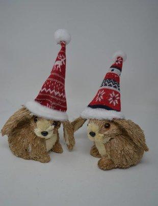 Santa Hat Rabbit Ornament (2 Styles)