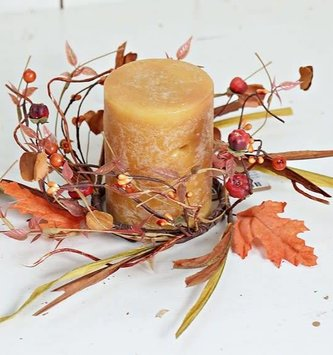 Fall Foliage Candle Ring