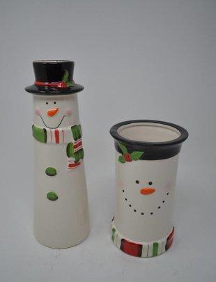 Ceramic Snowman Vase