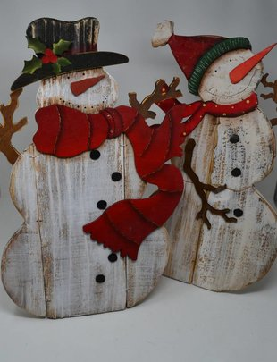 large wooden snowman w easel 2 styles