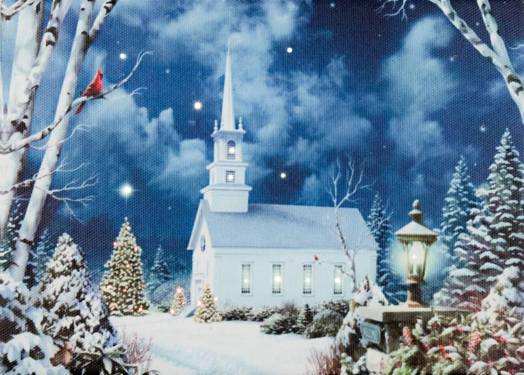 LED Tabletop Church Canvas