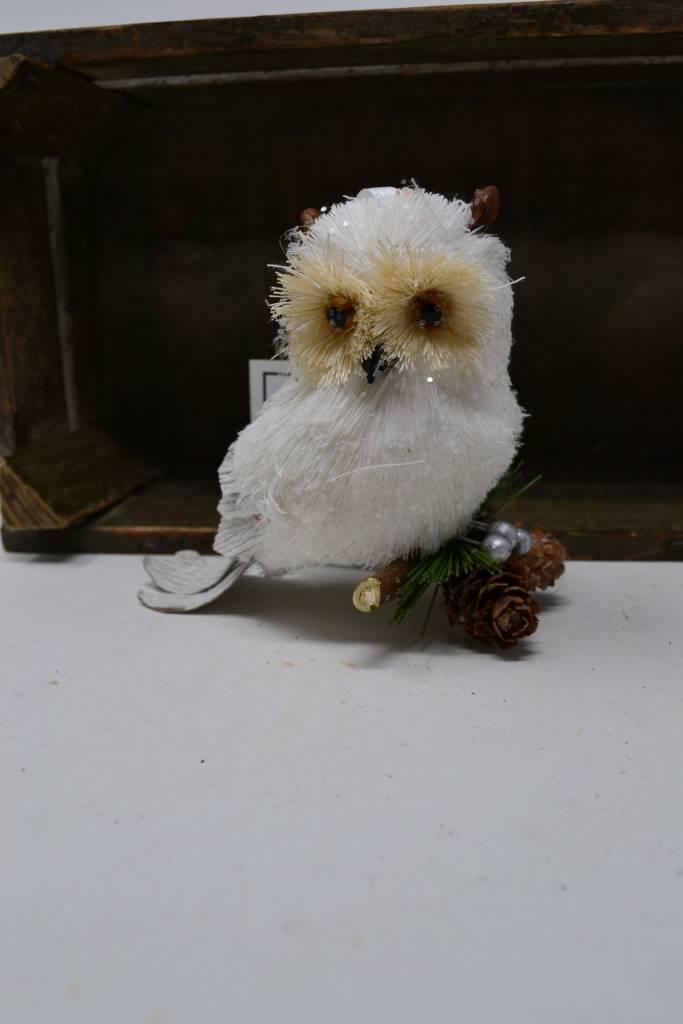 Arctic Sisal Owl Ornament
