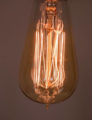 Vertical Edison Light Bulb