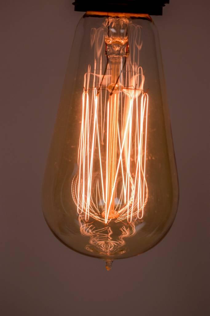 Vertical Edison Light Bulb
