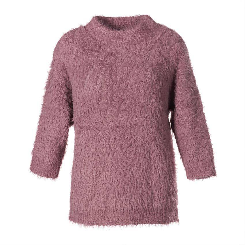 Funnel Neck Eyelash Sweater