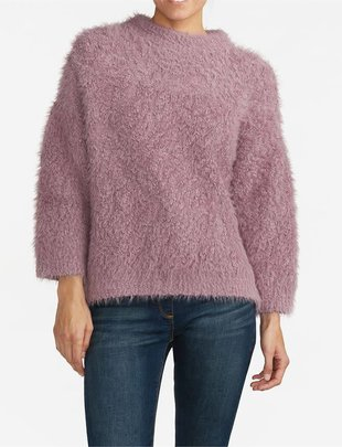 Funnel Neck Eyelash Sweater (2 Colors)