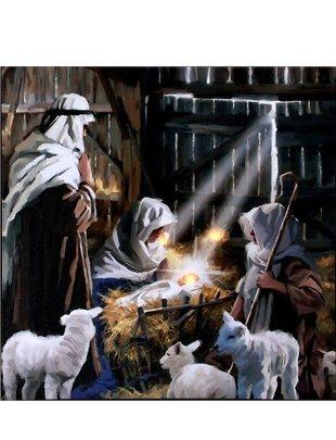 LED Nativity Canvas