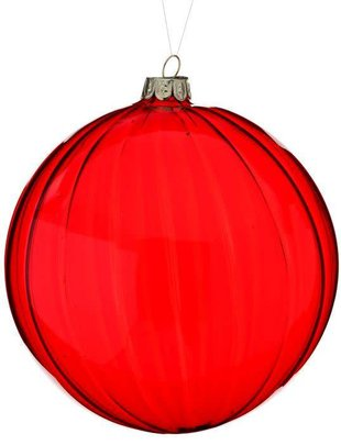 """5"""" Red Glass Ball Ornament"""