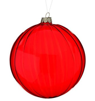 "5"" Red Glass Ball Ornament"