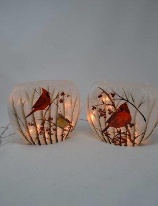 Oval Lighted Cardinal Lamp (2 Styles)