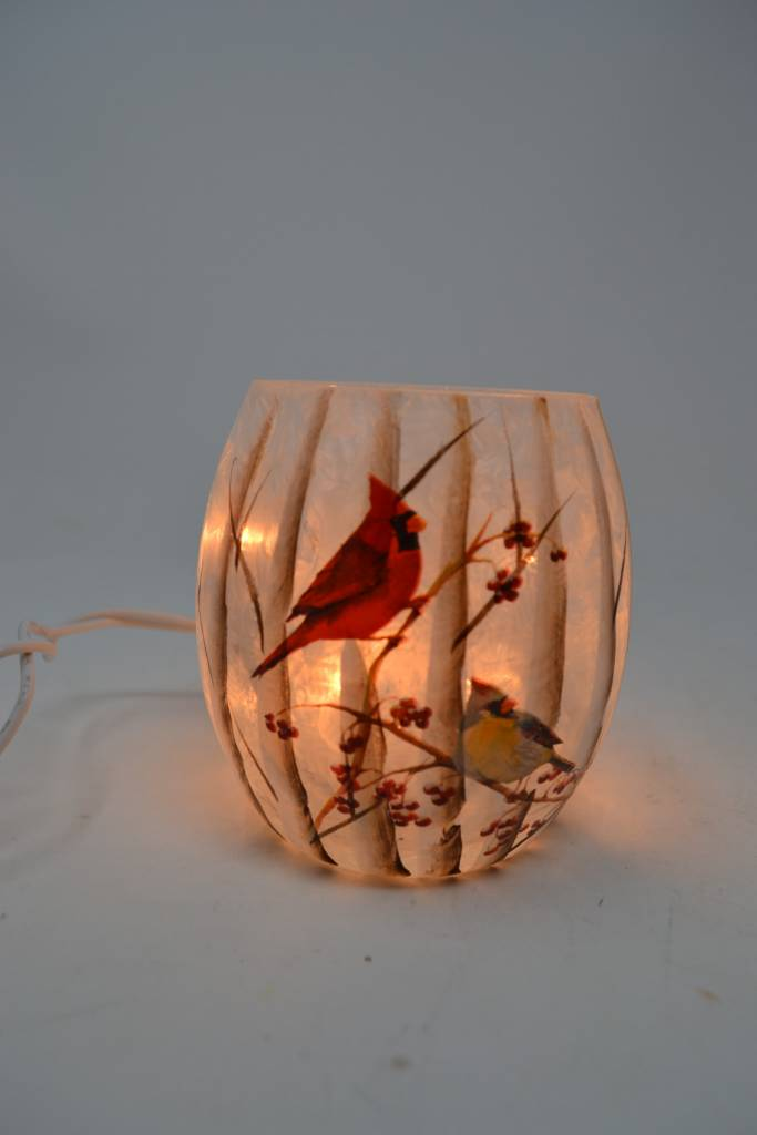 Mini Lighted Cardinal Lamp