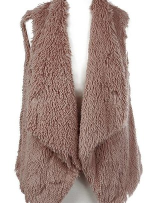 Tiered Fur Lined Vest (2 Colors)