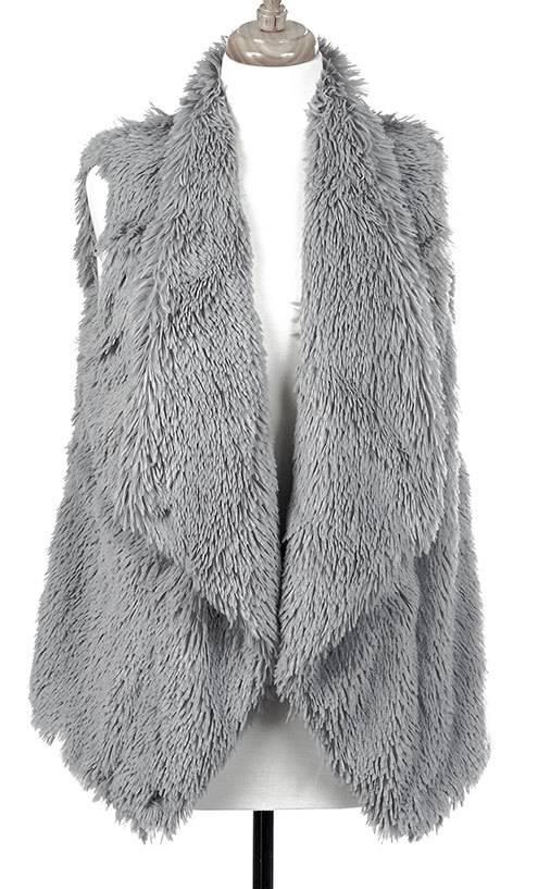 Tiered Fur Lined Vest