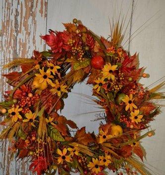 Custom Fall Delarobia Wreath