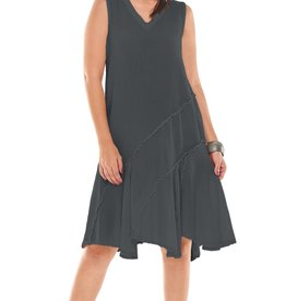 OH MY GAUZE OH MY GAUZE D205 TABASCO GRAPHITE DRESS