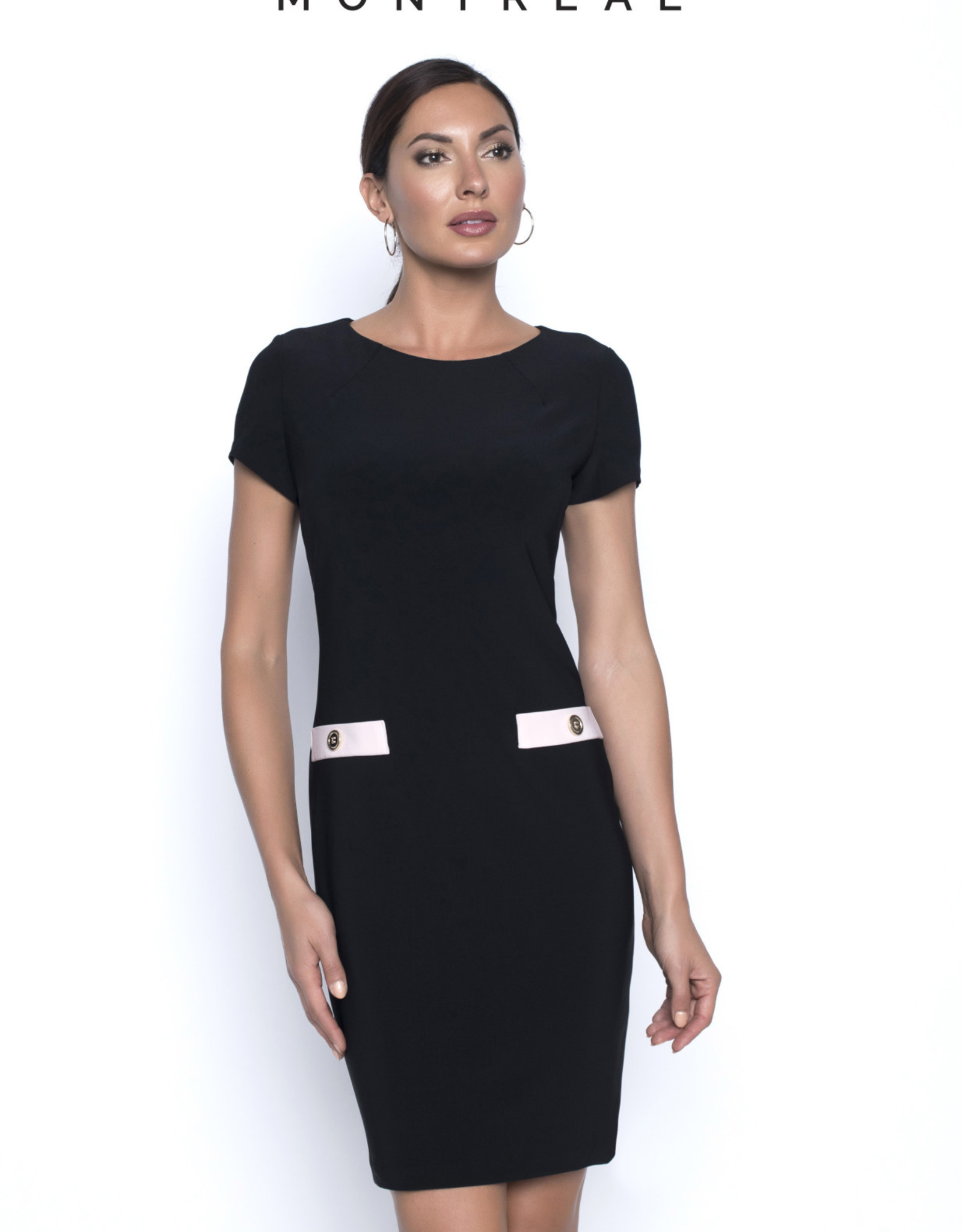 Frank Lyman FRANK LYMAN 196005 BLACK/PINK DRESS