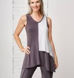 Sympli Sleeveless Matrix Flip Top 21149CB
